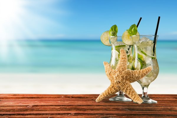 Обои коктейль, мохито, drink, beach, vacation, cocktail, lime, tropical, mojito, summer, fresh, paradise, mint, sea