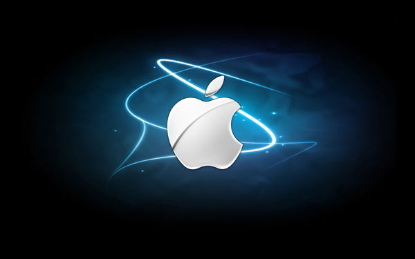 Обои apple, mac, brand, logo, backround, lines