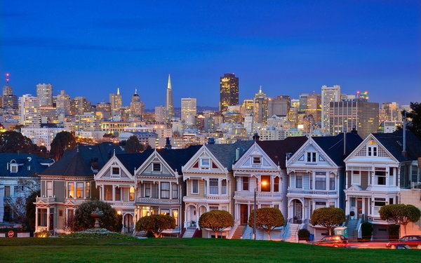 Обои United States, California, San Francisco, Alamo Square