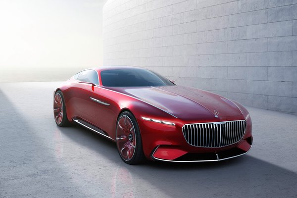 Обои Mercedes, motor vehicle, red, official, visual, desing, ice, high standard, Mercedes Maybach Vision 6, wall, beauty, dream consumption, beauty on wheels, automobile, ostentation, car, hd, bold lines, vehicle, Maybach, automobilistica technology, luxury, Mercedes Maybach, futuristic look, Mercedes Maybach Vision, high technology, comfort