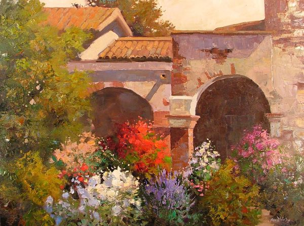 Обои Sean Wallis, арт, Evening At The Mission