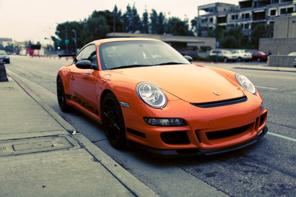 Обои Photography, Orange, gt3, cars, parking, парковка, стоянка, porshe gt3 rs, auto, сity, porshe