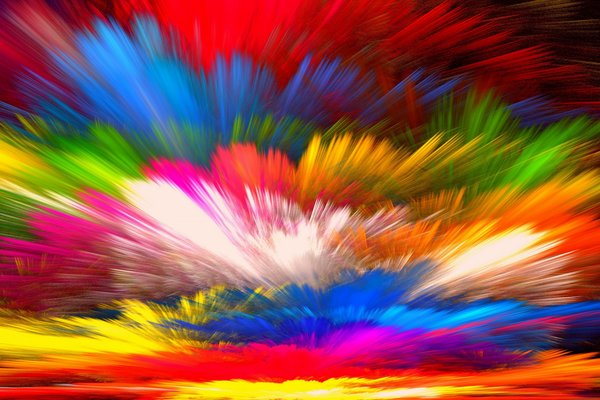 Обои abstract, painting, краски, rainbow, colors, splash, bright, colorful