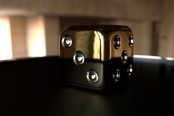 Обои The Cube Gold, abstract, render, 3D image, HeadWitcher