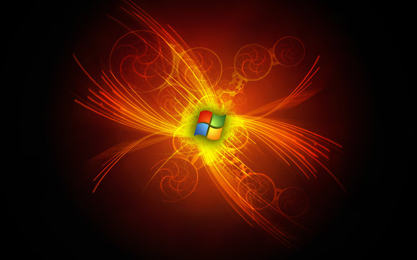 Обои microsoft, abstraction, logo, windows