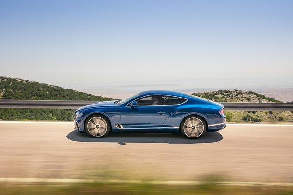 Обои Bentley, Blue, Coupe, 2017, Continental GT