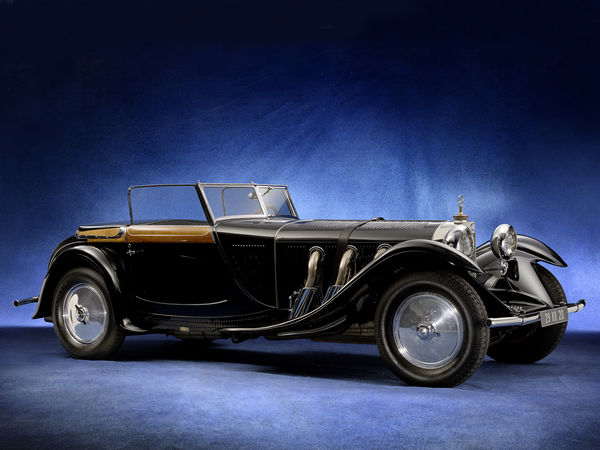 Обои mercedes benz, car, 680s torpedo roadster, blue