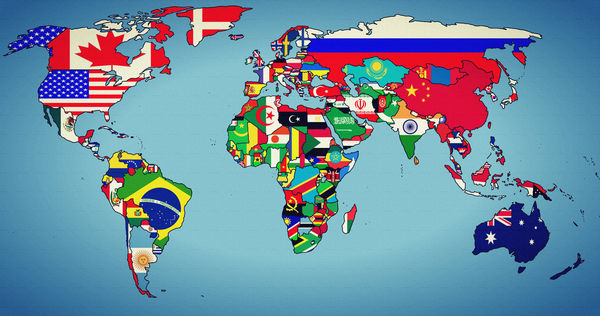 Обои world, states, map, earth, geographic map