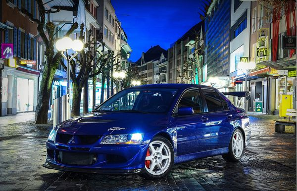 Обои Mitsubishi, JDM, Beautiful, синий, Эволюшен, Style, Митсубиши, Lancer, Evolution, Лансер