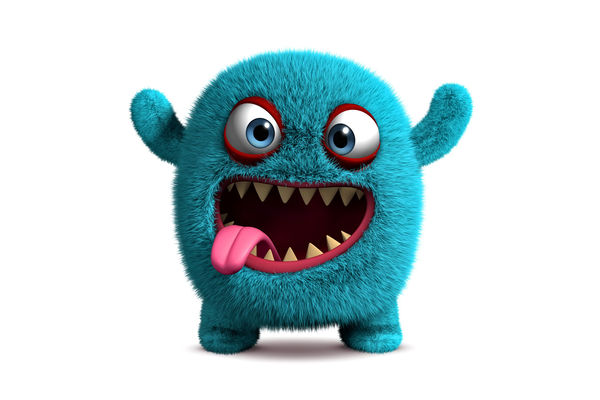 Обои 3d, face, funny, fluffy, monster, cute