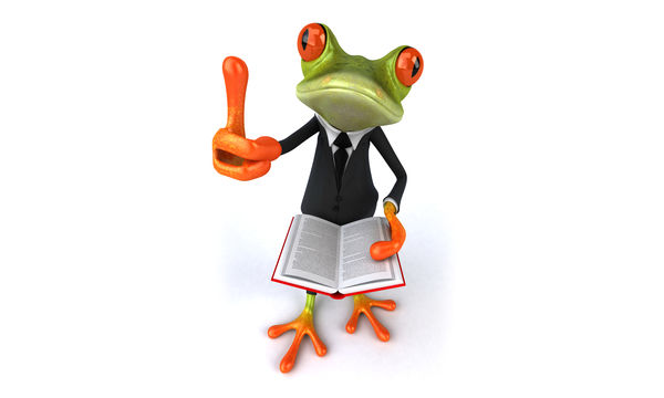 Обои frog, book, лягушка, 3d, suit, funny