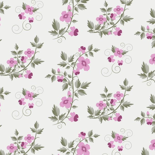 Обои retro, vector, floral, текстура, with, pattern, flowers