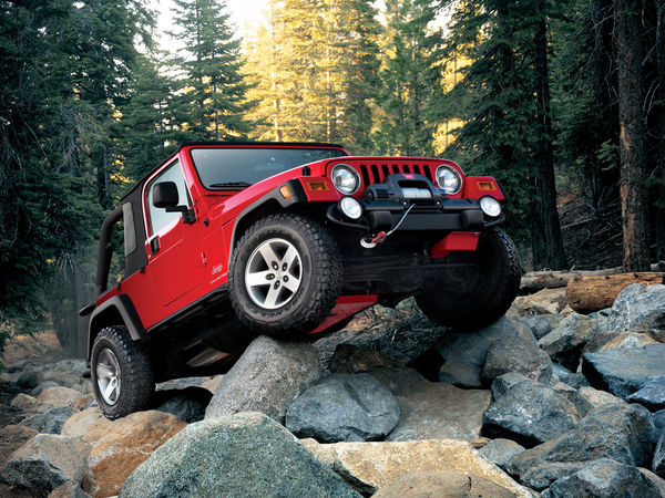 Обои Jeep, red, wrangler