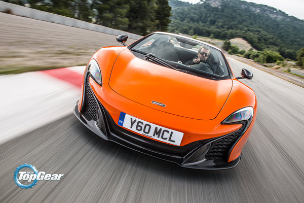 Обои McLaren, Orange, Front, 650S, Spider, Track, Top Gear, Speed