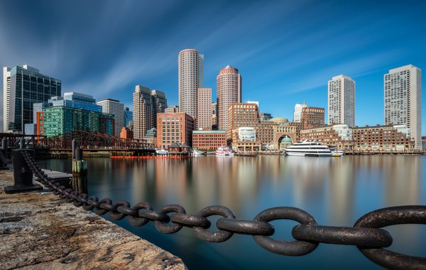 Обои США, Fan Pier Park, Boston, Бостон, Downtown Boston