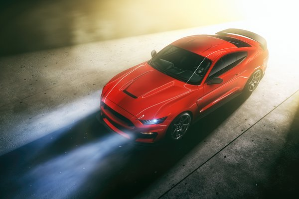 Обои Mustang, Ford, RED, Light