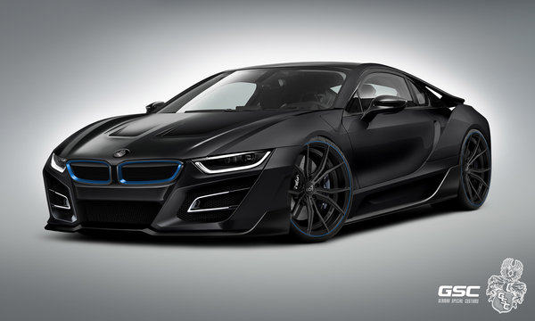 Обои bmw, race, m5, m3, germany, tuning, power, concept, hybrid, i8, black