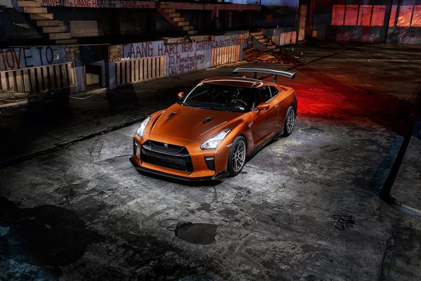 Обои GTR, Graphity, Bronze, R35, Light, Nissan