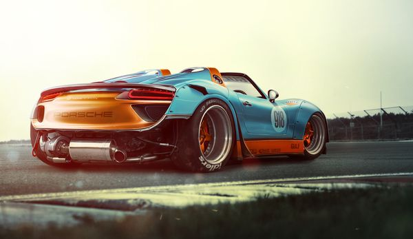 Обои Porsche, Race, 918, Supercar, Wide, Power, Spyder, Track