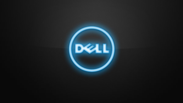 Обои dell, logo, carbon