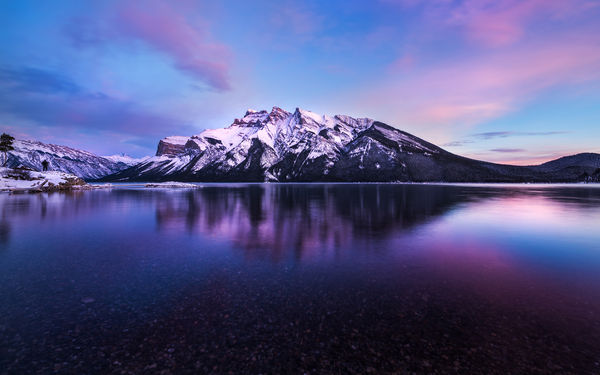 Обои banff, mountain, lake, canada, alberta