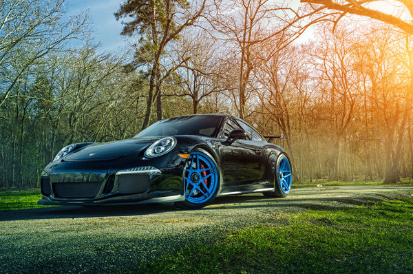Обои Porsche, ADV.1, Sun, Wheels, GT3, 911, Forged, Grass, Front, Custom