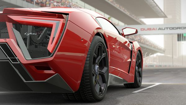 Обои Project Cars, Community Assisted Racing Simulator, Автосимулятор, Supercar, Slightly Mad Studios, Madness Engine, Namco Bandai Games, Красный, Игра, Lykan Hypersport, Суперкар, Гонки