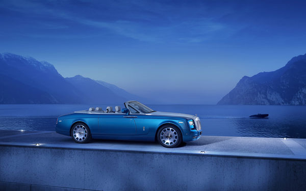 Обои Rolls-Royce Phantom, Waterspeed Collection, Drophead, Coupe, катер, car
