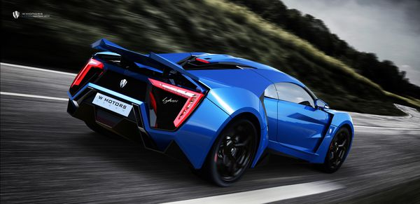 Обои Lykan Hypersport, суперкар, supercar, UHD, car, blue, race, 4K, W Motors