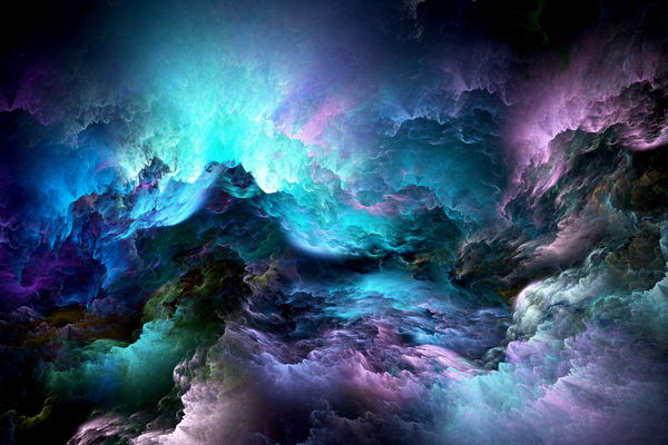 Обои abstract, colors, clouds, unreal, облака, space