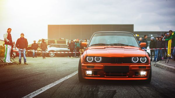 Обои BMW, Front, Ligth, Car, M3, Drift, E30, Sun