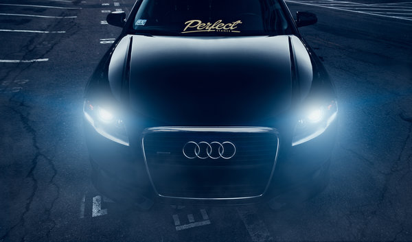 Обои Audi, Stance, Ligth, A4, Vehicle, Front, Dark, Black, Slammed