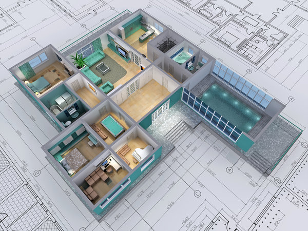 Обои drawings, architecture, design, housing