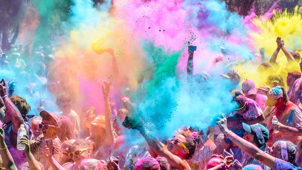 Обои Colour Colour run, River Festival, fun running australia