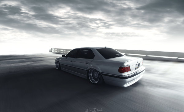 Обои BMW, 740IL, e38, stance, car, 7 series