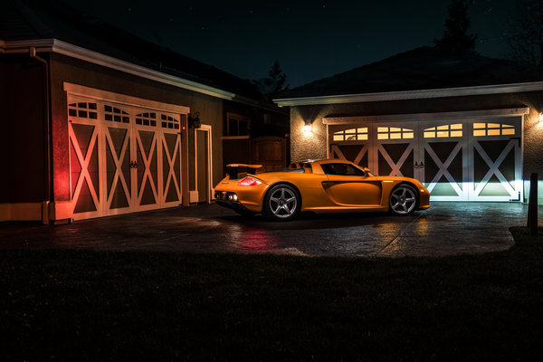 Обои Porsche, Borealis, Supercar, Nigth, Ligth, Arancio, Exotic, Rear, Orange, GT, Carrera