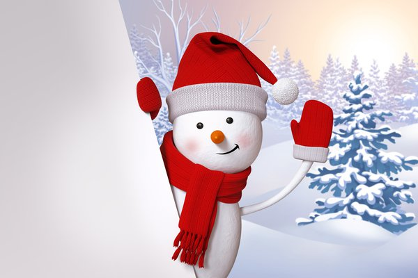 Обои snowman, winter, snow, снеговик, cute, happy