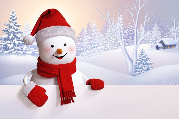 Обои snowman, winter, happy, snow, снеговик, cute