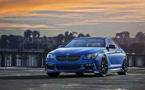 Обои BMW 640i, F06, car, Gran Coupe, Matte Blue