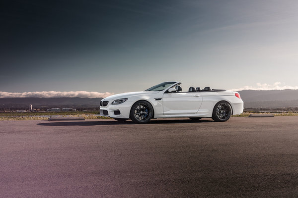 Обои BMW, Strasse, Forged, Convertible, White, Front, Wheels, M6