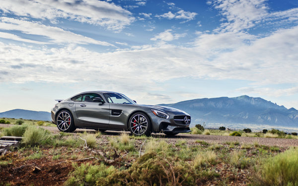 Обои mercedes gt, горы, lunchbox photoworks, car