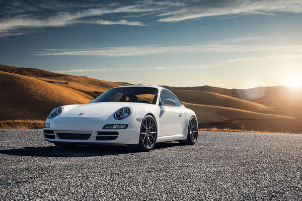 Обои Porsche 997, Carrera S, car, white
