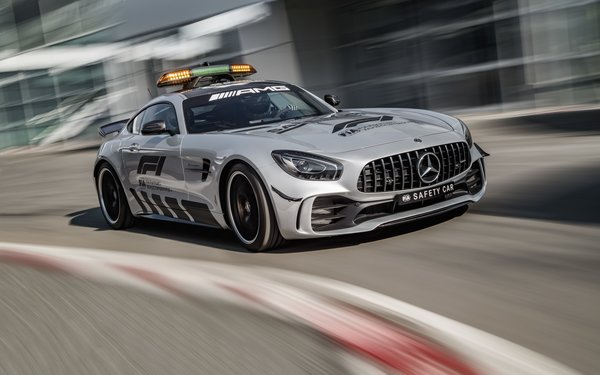 Обои Мерседес-Бенц, Mercedes - Benz, 2018, машина безопасности, Формула 1, Mercedes - AMG GT R Official F1 Safety Car
