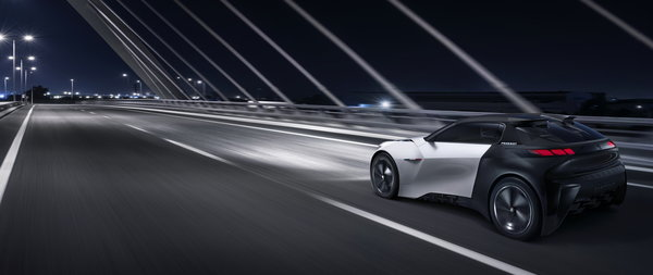 Обои Peugeot Fractal electric concept car