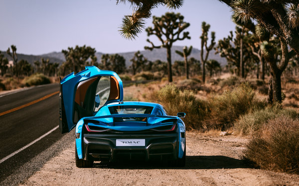 Обои rimac, c two, california edition