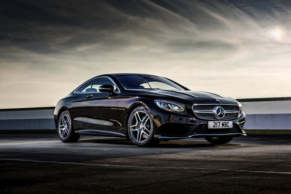 Обои 2014, Mercedes-Benz, мерседес, S 500, AMG, Coupe, UK-spec, C217