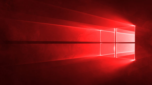 Обои red, windows, windows10