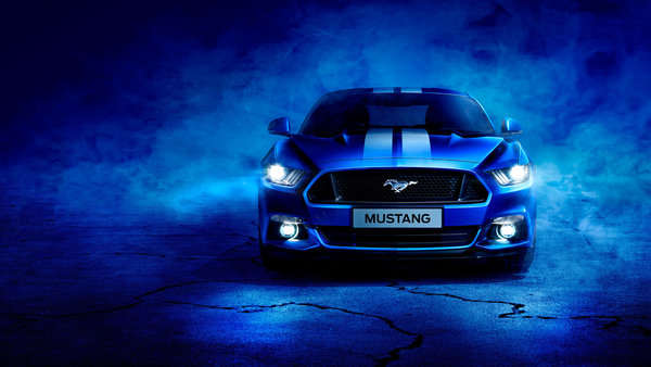 Обои Blue, Ford, Mustang