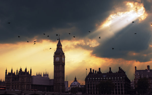 Обои london big-ben zakat