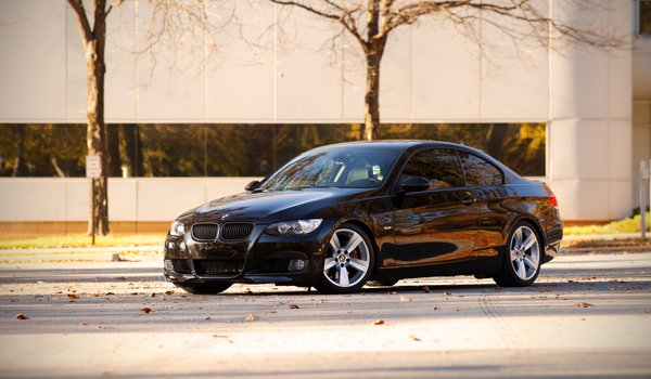 Обои 335i, black, Auto, auto wallper, city, cars, сars photography, bmw 335i, bmw e92, bmw